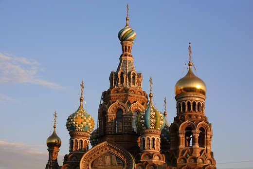 Stock Photo: 4285-23963 Russia, St Petersburg, Church of the Resurrection (Church on Spilled Blood)