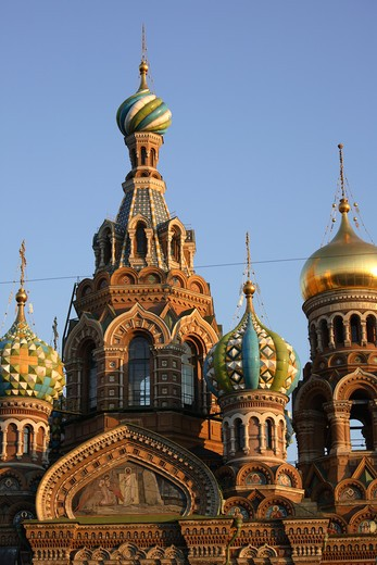 Stock Photo: 4285-23965 Russia, St Petersburg, Church of the Resurrection (Church on Spilled Blood)