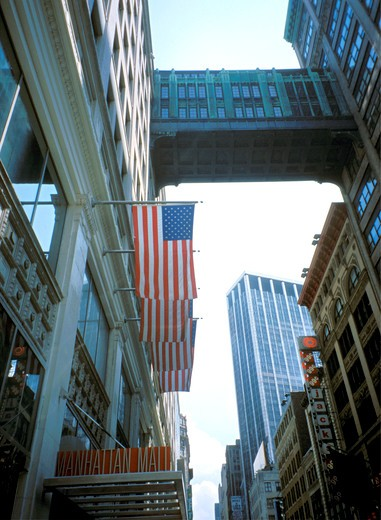 Stock Photo: 4285-4416 New York City Manhattan buildings, USA