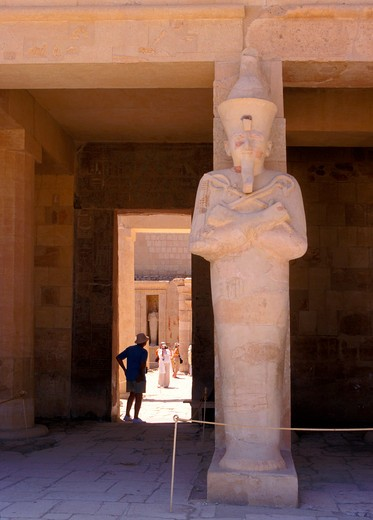 Stock Photo: 4285-4645 Temple Deir el Bahari of Queen Hatshepsut in Luxor, Egypt,