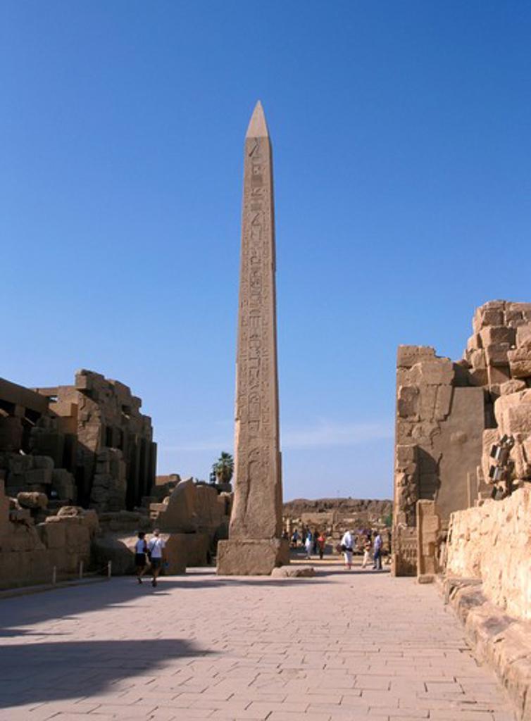 Stock Photo: 4285-4712 Obelisk of Tutmose I, Temple of Karnak, Egypt