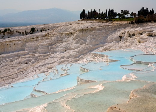 Limestone terraces of Pamukkale Turkey : Stock Photo