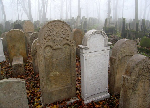 Stock Photo: 4285-5393 Jewish Cemetery at Kazimierz district, Krakow, Poland