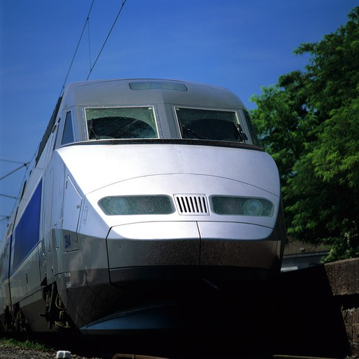 TGV ATLANTIQUE HIGH-SPEED TRAIN FRANCE : Stock Photo