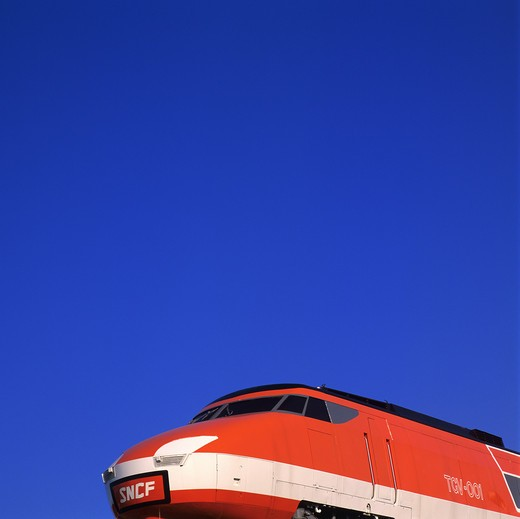 Stock Photo: 4285-6607 FIRST TRAIN 001 TGV MEDITERRANEE HIGH-SPEED TRAIN FRANCE