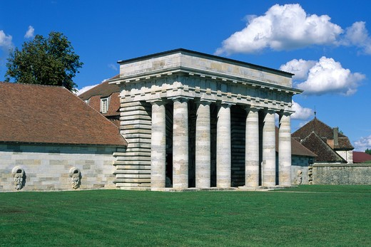 Stock Photo: 4285-6616 FRANCE JURA ARC-ET-SENANS SALINE ROYALE ROYAL SALTWORKS WARDENS BUILDING MAIN ENTRANCE