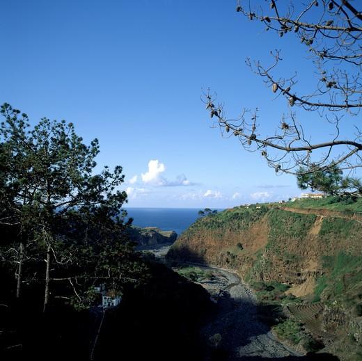 SGM SQUARE PORTUGAL MADEIRA ISLAND RIBEIRA DO FAIAL DRIED RIVER : Stock Photo