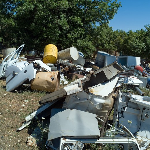 RUBBISH DUMP SITE PROVENCE FRANCE : Stock Photo