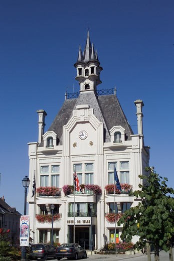 Stock Photo: 4285-8355 FRANCE BRITTANY SAINT-MEEN-LE GRAND TOWN HALL