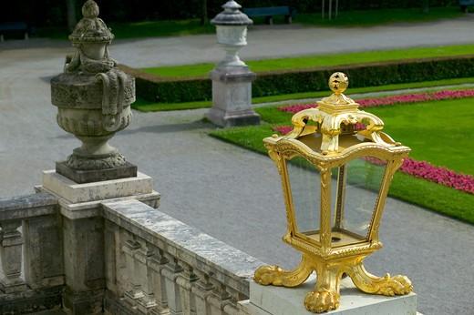 Stock Photo: 4285-9085 GOLDEN LANTERN OF THE NYMPHENBURG CASTLE MUNICH BAVARIA GERMANY