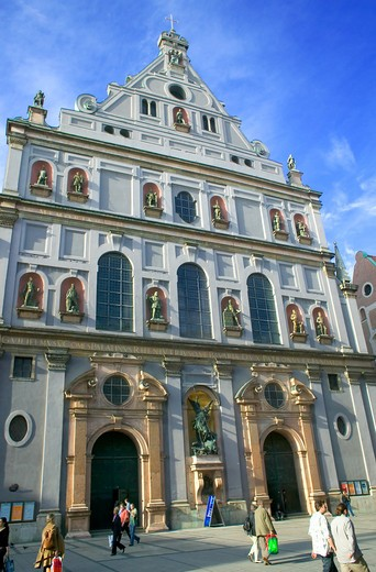 MICHAELSKIRCHE SAINT-MICHAEL'S RENAISSANCE CHURCH MUNICH BAVARIA GERMANY : Stock Photo