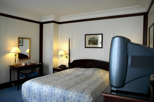 Stock Photo: 4285-9409 HOTEL ROOM COPENHAGEN DENMARK