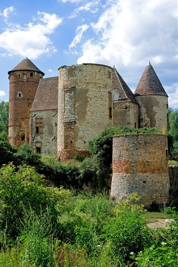 Stock Photo: 4285-9666 ARGINY MEDEVIAL CASTLE RUINS BEAUJOLAIS WINE COUNTRY RHONE VALLEY FRANCE