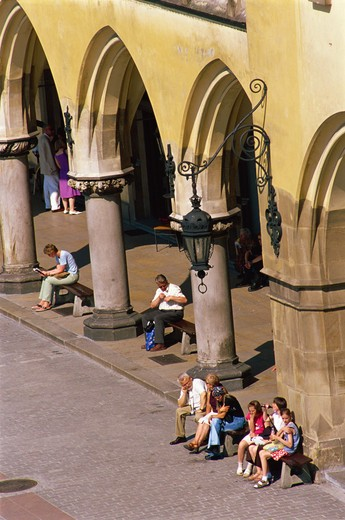 Stock Photo: 4285R-24653 Sukiennice, Cloth Hall, Market Square, Krakow, Poland