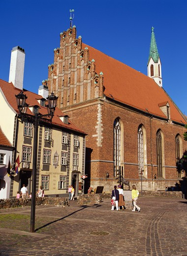 Stock Photo: 4285R-24755 St. John?s Lutheran Church, Skarnu Street, Old town, Riga, Latvia