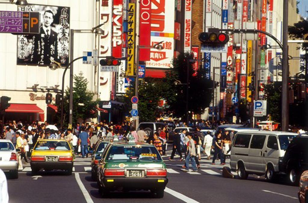 Stock Photo: 4285R-25057 Japan, Tokyo, Shinjuku, Street Scene