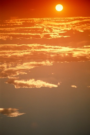 Stock Photo: 4286-16244 Sunset with clouds