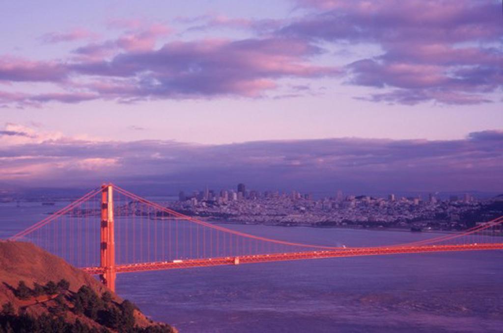 Stock Photo: 4286-16973 Golden Gate Bridge, San Francisco.