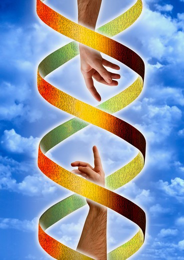 Stock Photo: 4286-17199 DNA God & Adam concept #D5A