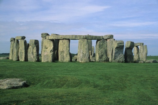 Stock Photo: 4286-17282 View of the ancient stones of Stonehenge in Salisbury, England.