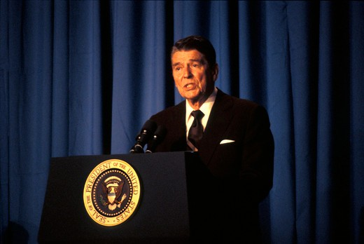 Stock Photo: 4286-17560 President Ronald Reagan