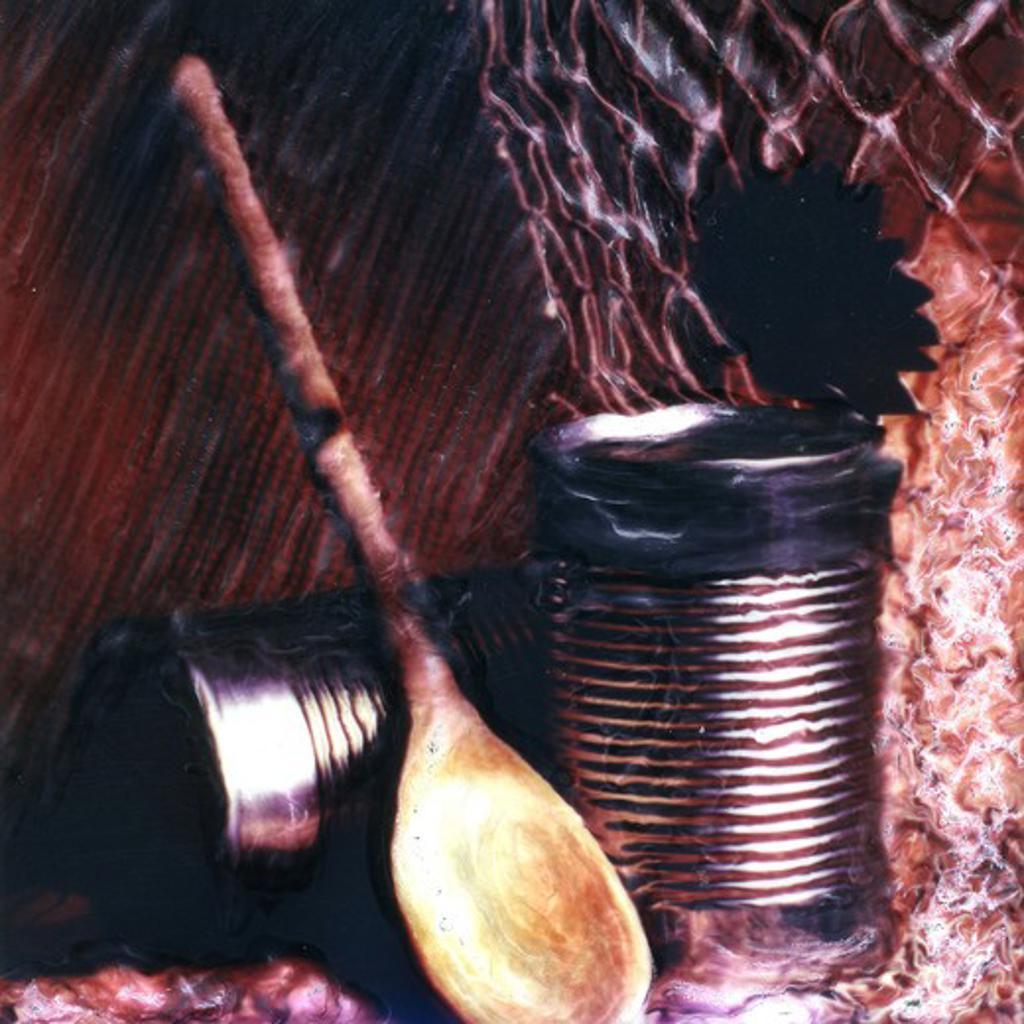 kitchen still life,manipulated polaroid : Stock Photo