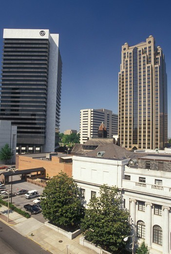 skyline, Birmingham, AL, Alabama, Skyline of downtown Birmingham. : Stock Photo