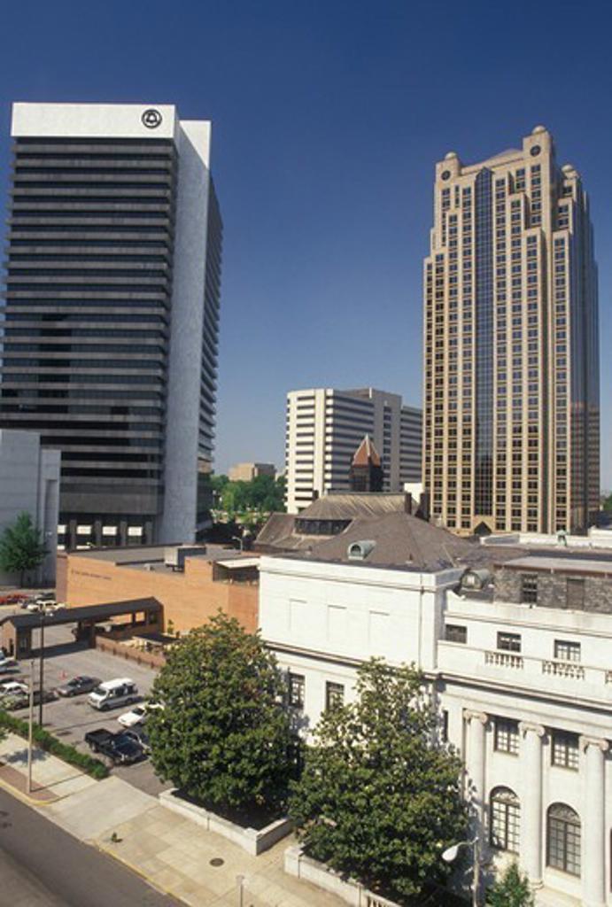 Stock Photo: 4286-19906 skyline, Birmingham, AL, Alabama, Skyline of downtown Birmingham.
