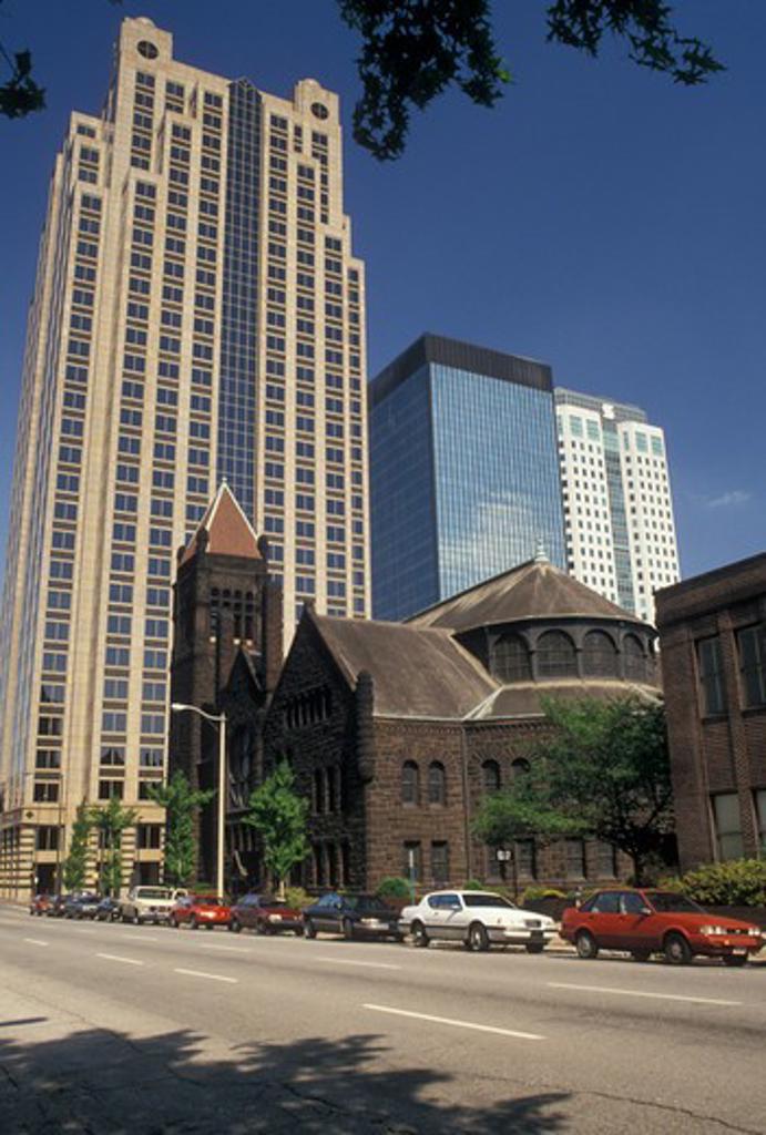 Stock Photo: 4286-19908 skyline, Birmingham, AL, Alabama, Skyline of downtown Birmingham.
