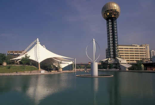 World's Fair, sunsphere, Knoxville, TN, Tennessee, Sunsphere at the 1982 World's Fair Grounds in Knoxville. : Stock Photo