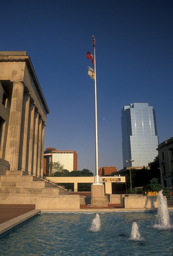 Stock Photo: 4286-19937 Little Rock, AR, Arkansas, Robinson Center and Auditorium in downtown Little Rock.
