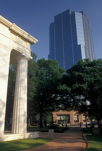Little Rock, AR, Arkansas, Old State House Museum and the Stevens Building in the capital city of Little Rock. : Stock Photo
