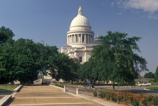 State Capitol, Little Rock, State House, AR, Arkansas, Arkansas State Capitol Building in the capital city of Little Rock. : Stock Photo