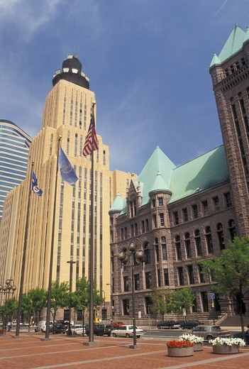 Stock Photo: 4286-20073 Minneapolis, MN, Minnesota, Twin Cities, Tall buildings in downtown Minneapolis.