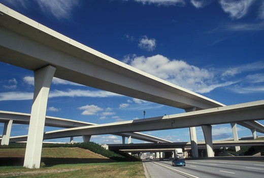 Stock Photo: 4286-20128 highway, bridges, interstate, overpass, Atlanta, GA, Georgia, Interstate 85 and 285 bridges at the Tom Moreland Interchange (Spaghetti Junction) in Atlanta.