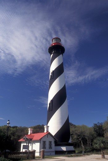 Stock Photo: 4286-20231 lighthouse, St. Augustine, FL, Florida, St. Augustine Lighthouse on Anastasia Island in Saint Augustine.