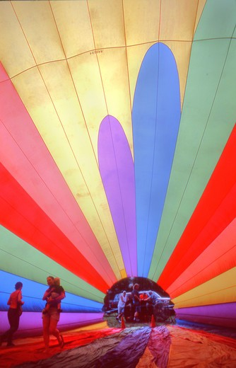 Hot Air Balloon interior : Stock Photo