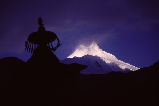 Stock Photo: 4286-21635 Mount Manaslu in Nepal.