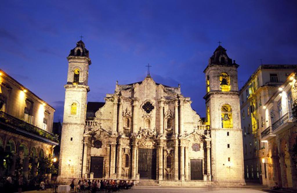 Cuba Havana Catedral de San Cristobal : Stock Photo