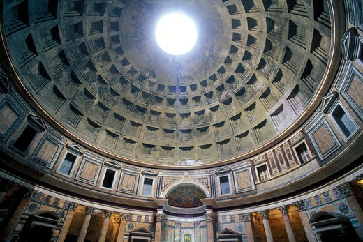 Stock Photo: 4286-23453 Italy Rome The Pantheon interior