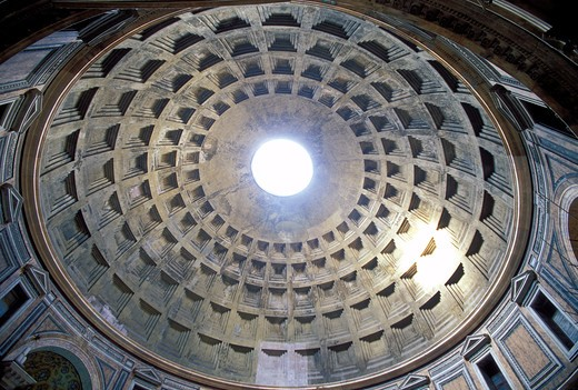 Stock Photo: 4286-23509 Italy Rome Interior of the Pantheon