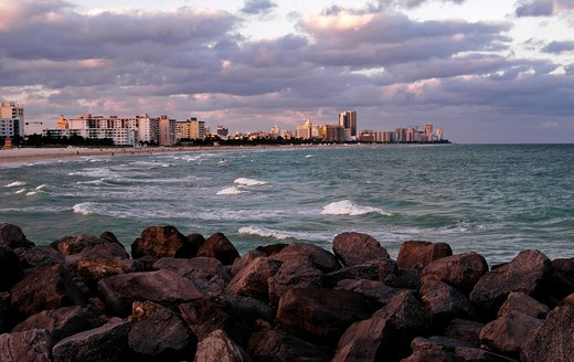 Stock Photo: 4286-24648 Miami, Florida South Beach cityscape
