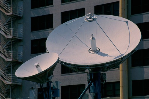 Stock Photo: 4286-24845 Satellite Dishes for Television
