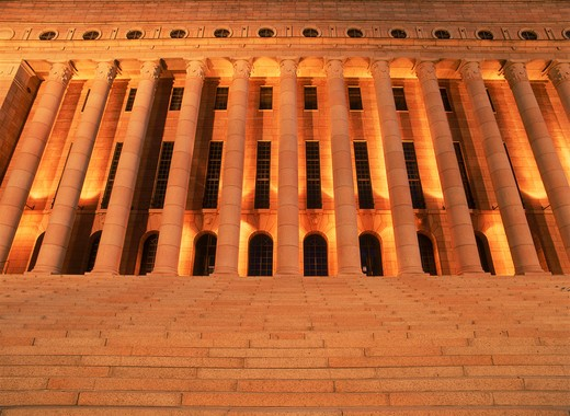 Stock Photo: 4286-25427 Parliment House in Helsinki at night