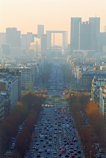 Champs lys'es and La Defense Par¡s France : Stock Photo