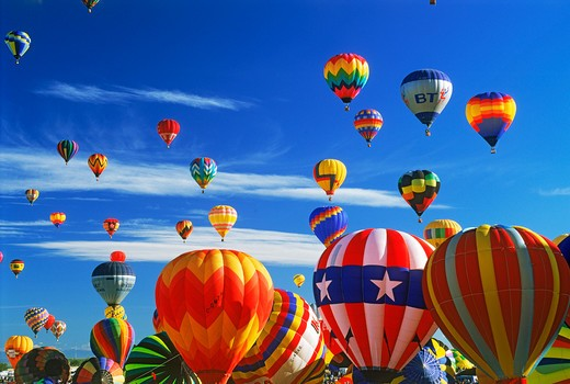 Stock Photo: 4286-25875 Albuquerque balloon festival in New Mexico