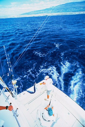Stock Photo: 4286-27057 Deep sea fishing off Kona Coast of Hawaii