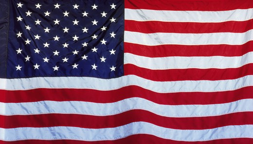 Stock Photo: 4286-28259 The flag of the United States of America