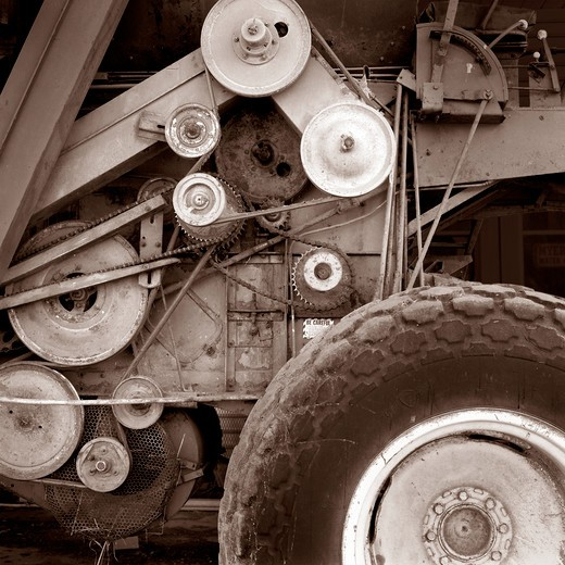 Stock Photo: 4286-29952 Combine pulleys