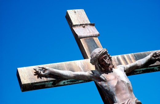 Stock Photo: 4286-30011 Statue of Jesus Christ on Cross